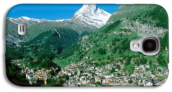 Snow Capped Galaxy S4 Cases - Zermatt, Switzerland Galaxy S4 Case by Panoramic Images