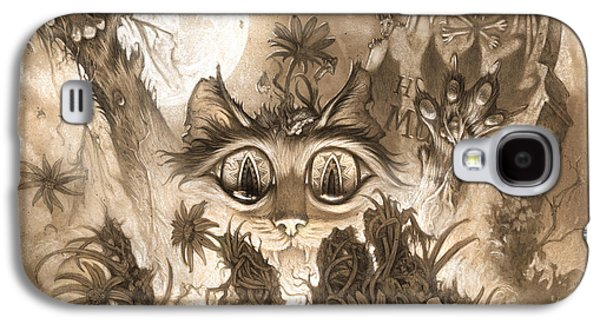 Graveyard Galaxy S4 Cases - Zombie Cats Galaxy S4 Case by Jeff Haynie