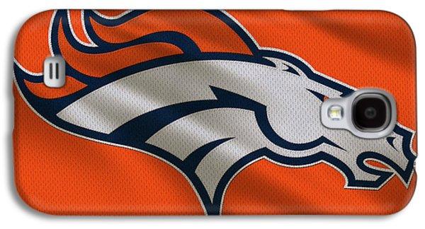 Denver Broncos Uniform Galaxy S4 Case by Joe Hamilton