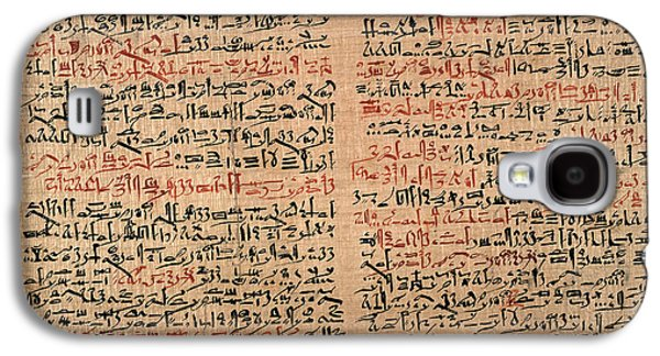 Edwin Smith Papyrus Galaxy S4 Case by National Library Of Medicine