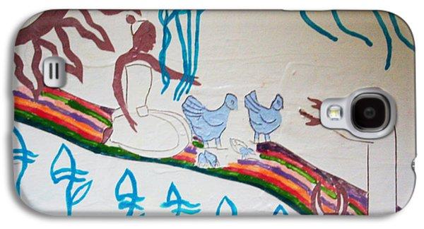Drawing Ceramics Galaxy S4 Cases - Kintu and Nambi Galaxy S4 Case by Gloria Ssali