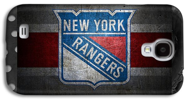 Hockey Photographs Galaxy S4 Cases - New York Rangers Galaxy S4 Case by Joe Hamilton