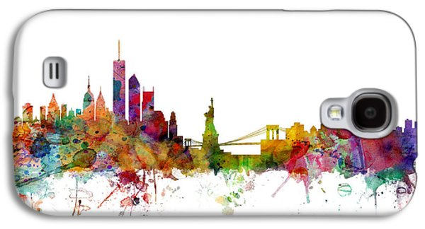 Poster Galaxy S4 Cases - New York Skyline Galaxy S4 Case by Michael Tompsett