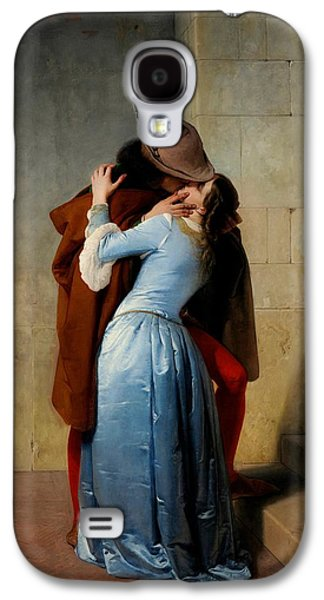 Fate Paintings Galaxy S4 Cases - The Kiss Galaxy S4 Case by Francesco Hayez
