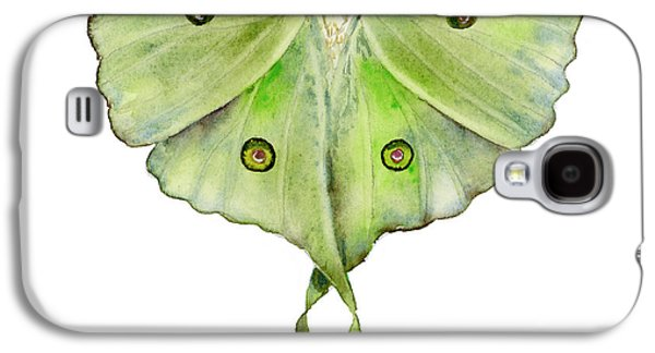 Change Paintings Galaxy S4 Cases - 100 Luna Moth Galaxy S4 Case by Amy Kirkpatrick