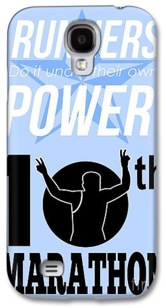 10th Marathon Race Poster  Galaxy S4 Case by Aloysius Patrimonio