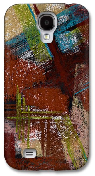 Contemporary Abstract Pastels Galaxy S4 Cases - On the Diagonal Galaxy S4 Case by Tracy L Teeter