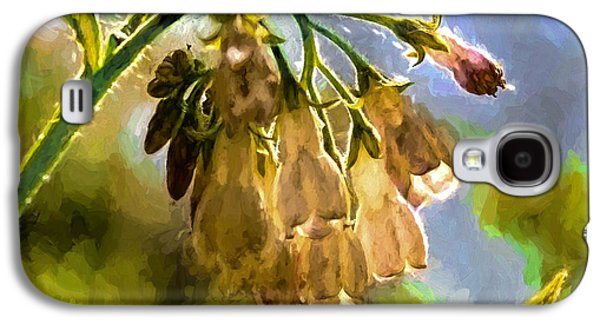 Paiting Galaxy S4 Cases - 11 Artistic painterly Wild flower lightened by sun Galaxy S4 Case by Leif Sohlman
