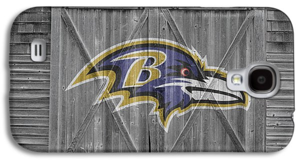 Barn Doors Galaxy S4 Cases - Baltimore Ravens Galaxy S4 Case by Joe Hamilton