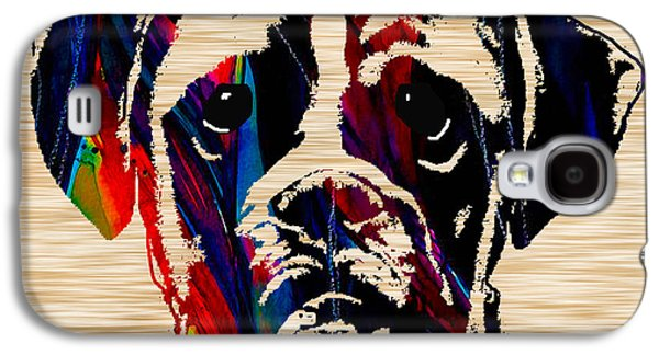 Boxer Galaxy S4 Cases - Boxer Galaxy S4 Case by Marvin Blaine