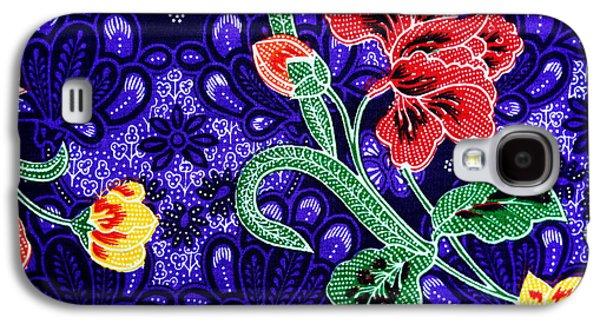 Macro Tapestries - Textiles Galaxy S4 Cases - Colorful batik cloth fabric background  Galaxy S4 Case by Prakasit Khuansuwan