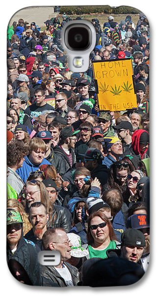 Legalisation Of Marijuana Rally Galaxy S4 Case by Jim West