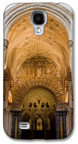 Relief Sculpture Galaxy S4 Cases - Mezquita Cathedral Interior in Cordoba Galaxy S4 Case by Artur Bogacki