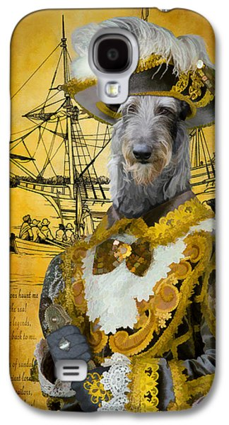 Scottish Dog Paintings Galaxy S4 Cases - Scottish Deerhound Art Canvas Print Galaxy S4 Case by Sandra Sij