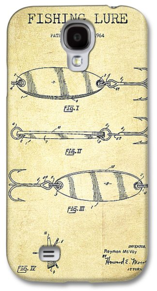 Technical Digital Art Galaxy S4 Cases - Vintage Fishing Lure Patent Drawing from 1964 Galaxy S4 Case by Aged Pixel