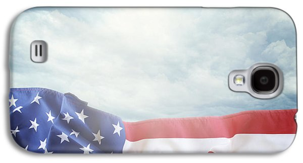 Independence Galaxy S4 Cases - American flag Galaxy S4 Case by Les Cunliffe
