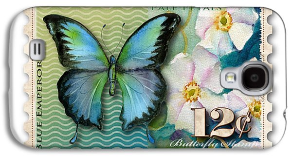 Emperor Galaxy S4 Cases - 12 Cent Butterfly Stamp Galaxy S4 Case by Amy Kirkpatrick