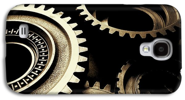 Mechanics Galaxy S4 Cases - Cogs Galaxy S4 Case by Les Cunliffe