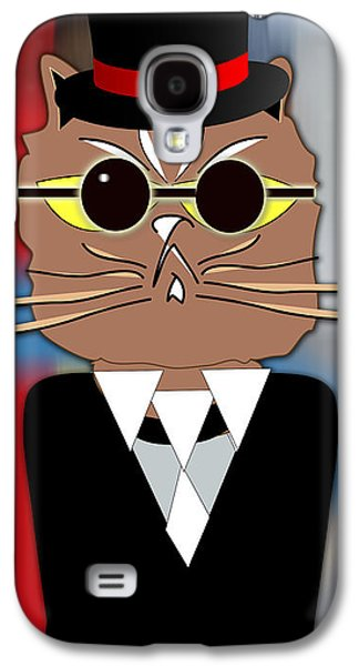 Cool Cat Galaxy S4 Case by Marvin Blaine