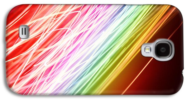 Multicolored Digital Galaxy S4 Cases - Energy lines Galaxy S4 Case by Les Cunliffe