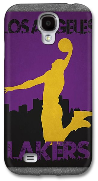 Dunk Galaxy S4 Cases - Los Angeles Lakers Galaxy S4 Case by Joe Hamilton
