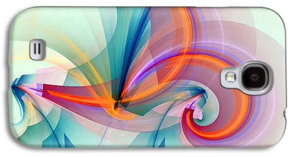 Blue Abstracts Galaxy S4 Cases - 1260 Galaxy S4 Case by Lar Matre