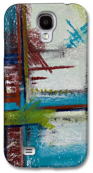 Contemporary Abstract Pastels Galaxy S4 Cases - Turquoise Waters Galaxy S4 Case by Tracy L Teeter