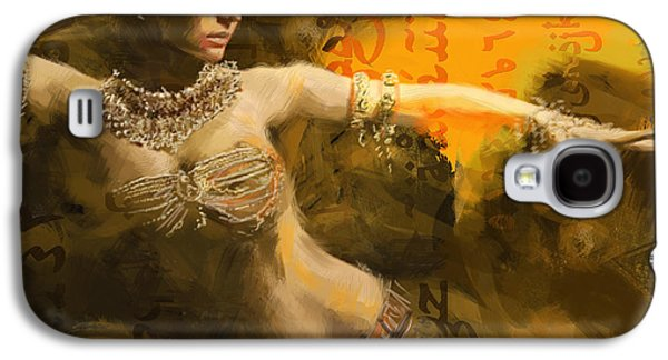 Moroccan Galaxy S4 Cases - Belly Dancer Galaxy S4 Case by Corporate Art Task Force