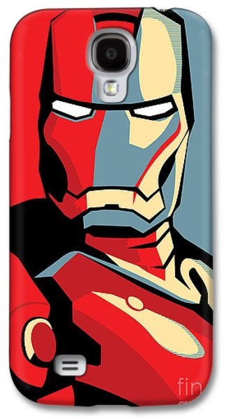 Famous Artist Galaxy S4 Cases - Iron Man Galaxy S4 Case by Caio Caldas