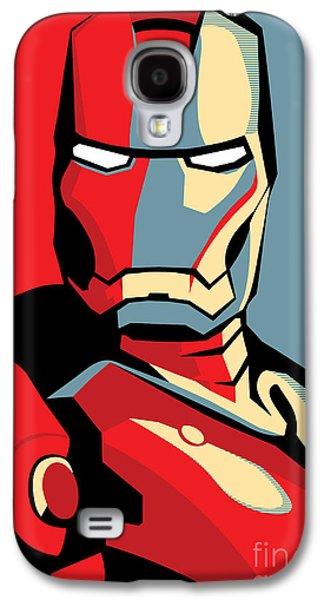 Face Digital Galaxy S4 Cases - Iron Man Galaxy S4 Case by Caio Caldas