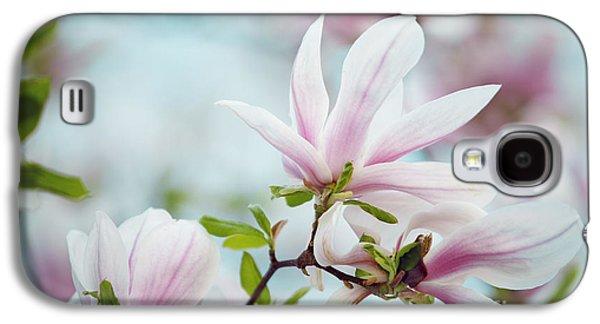 Decorative Photographs Galaxy S4 Cases - Magnolia Flowers Galaxy S4 Case by Nailia Schwarz