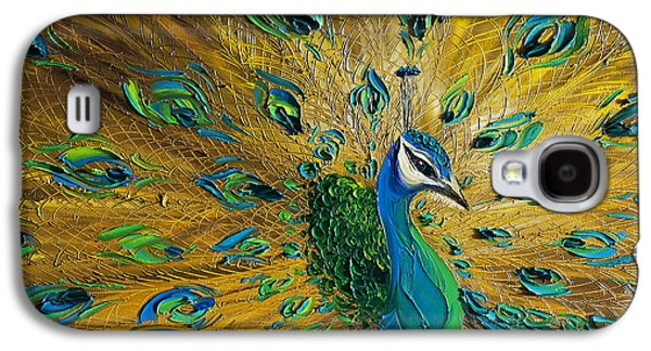 Abstract Prints For Sale Paintings Galaxy S4 Cases - Peacock Galaxy S4 Case by Willson Lau