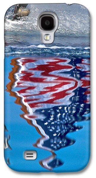 Mahogany Red Galaxy S4 Cases - Stars and Stripes Galaxy S4 Case by Steven Lapkin
