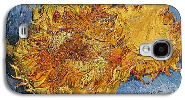 In Bloom Galaxy S4 Cases - Sunflowers Galaxy S4 Case by Vincent Van Gogh