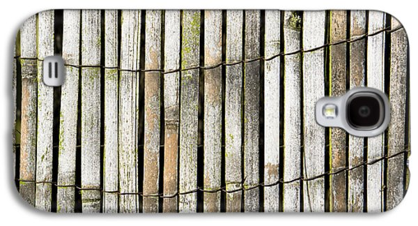 Bamboo Fence Galaxy S4 Cases - Wood background Galaxy S4 Case by Tom Gowanlock