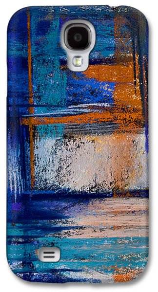 Contemporary Abstract Pastels Galaxy S4 Cases - Morning Blues #14 Galaxy S4 Case by Tracy L Teeter
