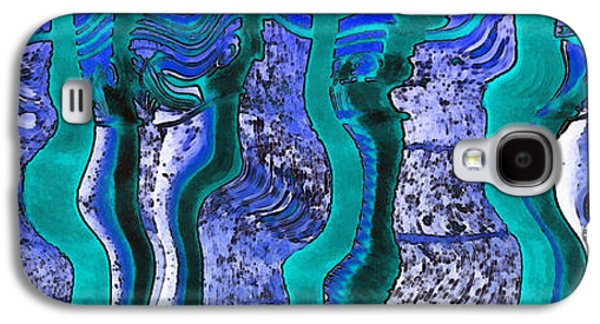 Abstract Digital Paintings Galaxy S4 Cases - Art abstract backgrounds Galaxy S4 Case by Odon Czintos