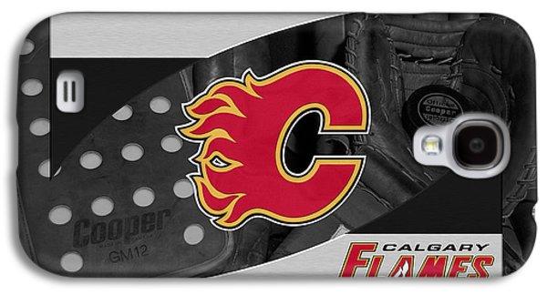 Flame Galaxy S4 Cases - Calgary Flames Galaxy S4 Case by Joe Hamilton