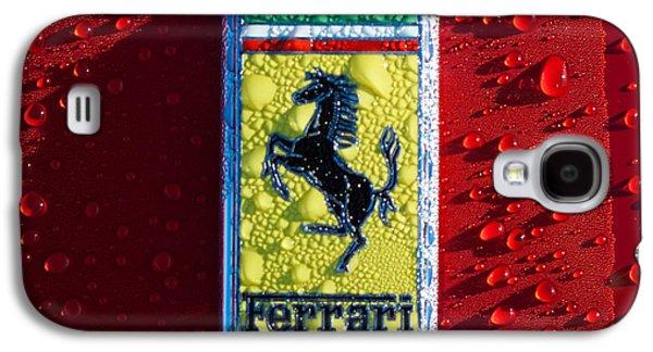 Transportation Photographs Galaxy S4 Cases - Ferrari Emblem Galaxy S4 Case by Jill Reger