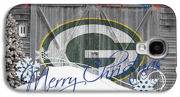 Christmas Galaxy S4 Cases - Green Bay Packers Galaxy S4 Case by Joe Hamilton