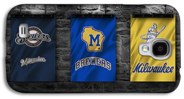 Baseball Uniform Galaxy S4 Cases - Milwaukee Brewers Galaxy S4 Case by Joe Hamilton