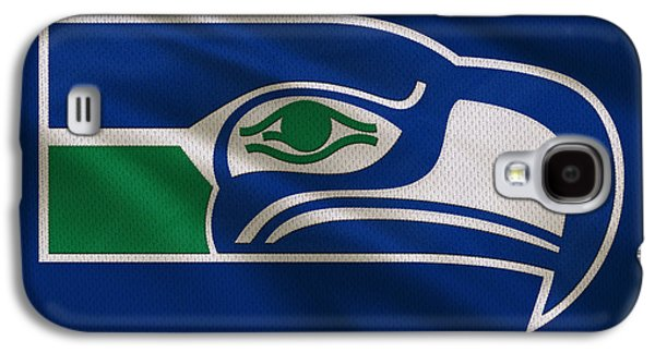 Recently Sold -  - Sports Photographs Galaxy S4 Cases - Seattle Seahawks Uniform Galaxy S4 Case by Joe Hamilton
