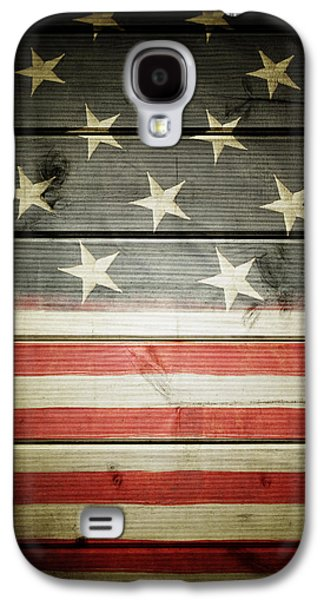 Democratic Galaxy S4 Cases - American flag Galaxy S4 Case by Les Cunliffe