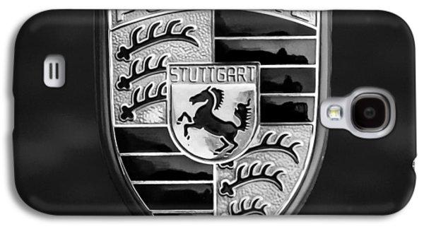 Transportation Photographs Galaxy S4 Cases - 1973 Porsche 911 E Targa Emblem Galaxy S4 Case by Jill Reger