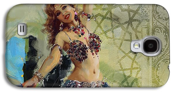 Moroccan Galaxy S4 Cases - Abstract Belly Dancer 13 Galaxy S4 Case by Corporate Art Task Force