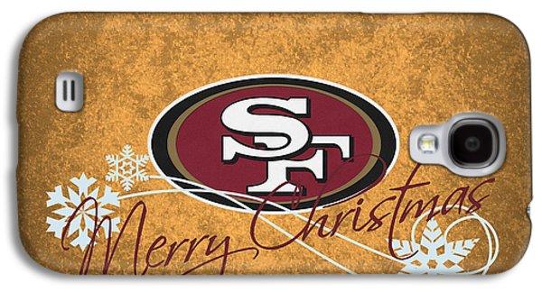 Christmas Cards Galaxy S4 Cases - San Francisco 49ers Galaxy S4 Case by Joe Hamilton