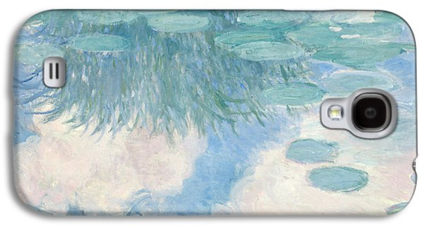 Claude Paintings Galaxy S4 Cases - Waterlilies Galaxy S4 Case by Claude Monet