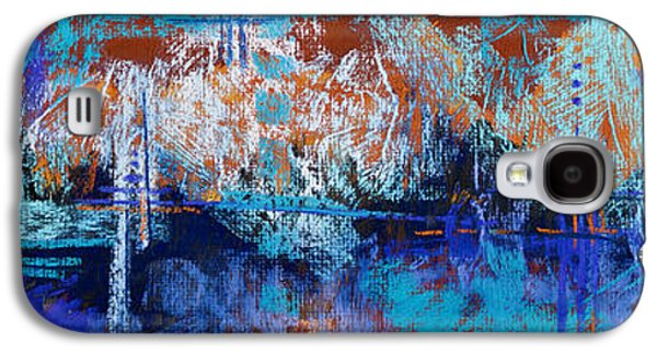Contemporary Abstract Pastels Galaxy S4 Cases - Bridges to Nowhere Galaxy S4 Case by Tracy L Teeter