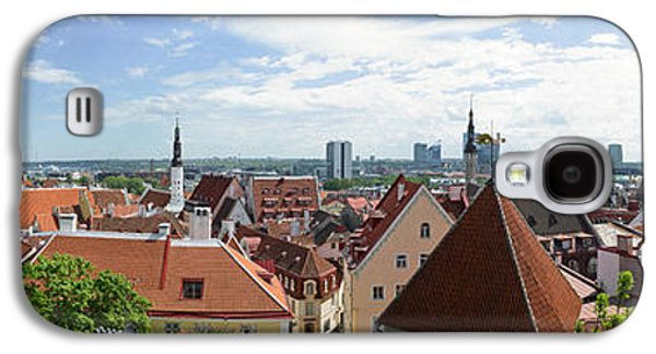 Tallinn Galaxy S4 Cases - Aerial View Of Buildings In A City Galaxy S4 Case by Panoramic Images