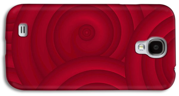 Wine Deco Art Galaxy S4 Cases - Red Abstract Galaxy S4 Case by Frank Tschakert